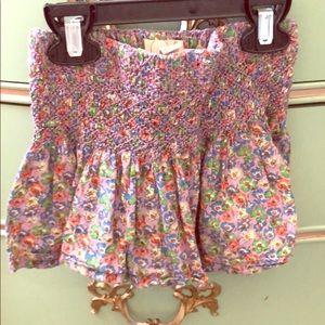 Peek Smocked Skirt